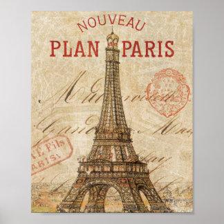 Poster Lettre de Paris