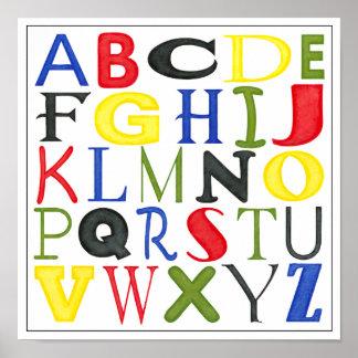 Poster Lettres brillamment colorées par Megan Meagher