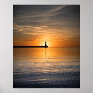 Poster Lever de soleil à l'affiche/à copie de Roker
