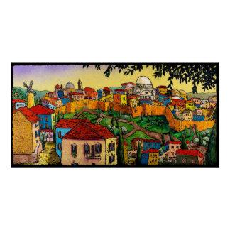 Poster Lever de soleil au-dessus de Jérusalem, affiche