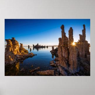 Poster Lever de soleil au lac mono, la Californie