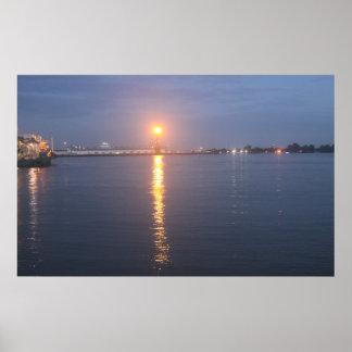 Poster Lever de soleil du fleuve Mississippi