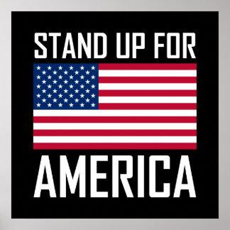 Poster Levez-vous pour l'hymne national de drapeau de
