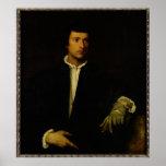 Poster L'homme avec un gant, c.1520