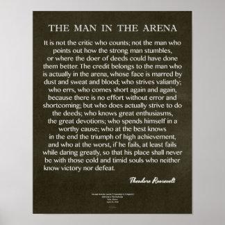 Poster L'homme dans la citation d'arène par Theodore