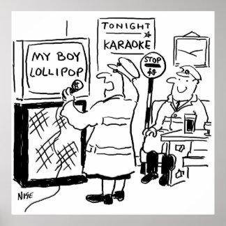 Poster L'homme de lucette apprécie le karaoke