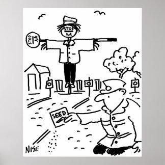 Poster L'homme de lucette emploie des lucettes pour faire