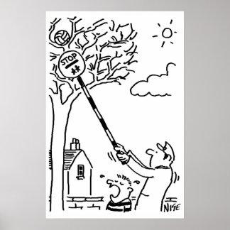 Poster L'homme de lucette secourt la boule de l'arbre