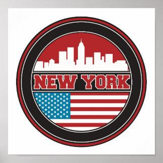 Poster L'horizon | Etats-Unis de New York diminuent