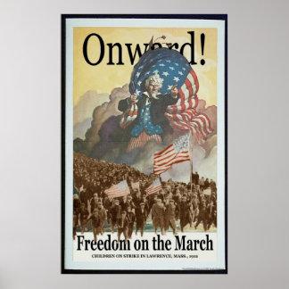 Poster Liberté mars -- Affiche de Pro-Union