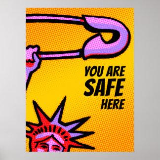 Poster Liberté SÛRE Pop1 : Vous êtes ici l'AFFICHE sûre