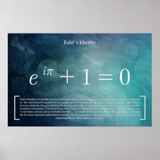 Poster L'identité d'Euler - affiche de maths