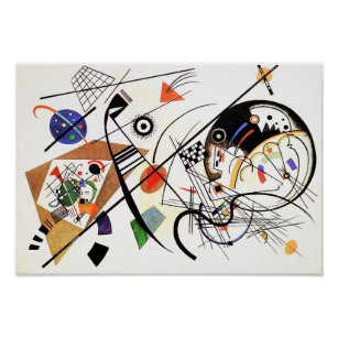 Poster Ligne transversale affiche de Kandinsky