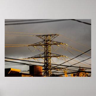 Poster Lignes électriques
