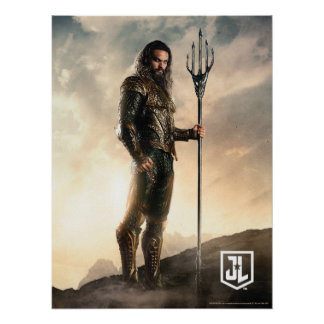 Poster Ligue de justice | Aquaman sur le champ de