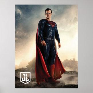 Poster Ligue de justice | Superman sur le champ de