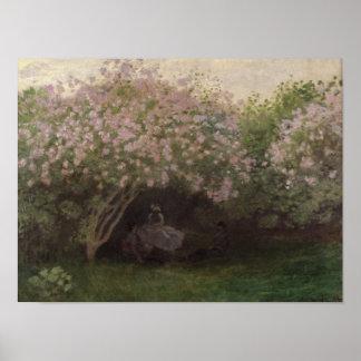 Poster Lilas de Claude Monet |, temps gris, 1872