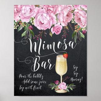 Poster Lilas de signe de mariage de barre de mimosa
