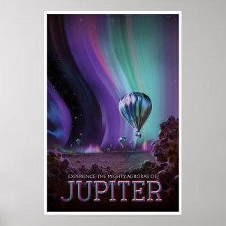 Poster L'illustration de voyage dans l'espace de Jupiter