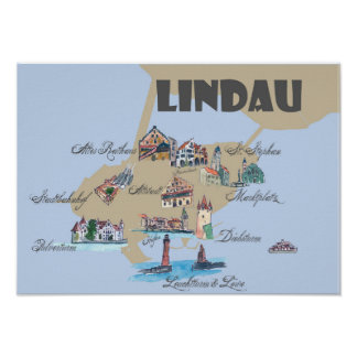 Poster Lindau accentue la carte