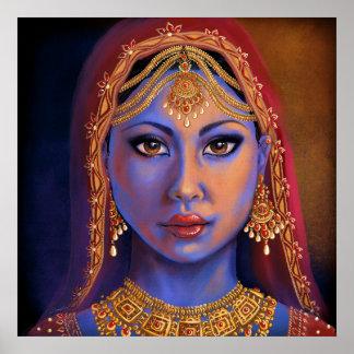 Poster l'Inde : Jeune mariée