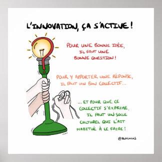"""Poster """"L'innovation, ça s'active !"""""""