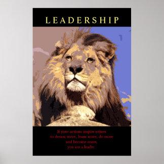 Poster Lion de motivation à la mode de direction