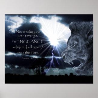 Poster Lion et foudre de la VENGEANCE | de 12h19 de