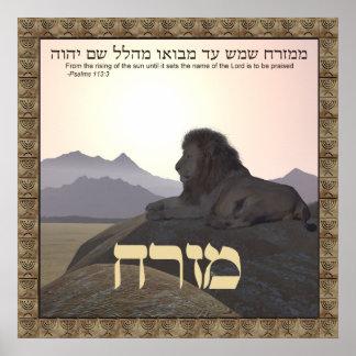 Poster Lion Mizrach