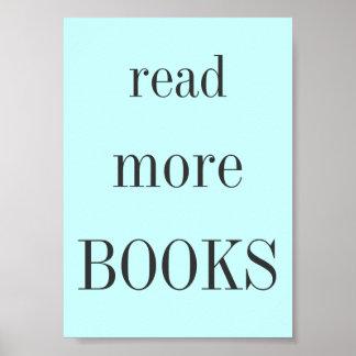 Poster Lisez plus de livres