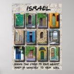 Poster L'Israël - portes et fenêtres