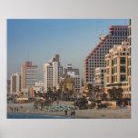 Poster L'Israël, Tel Aviv, du front de mer, hôtels, crépu