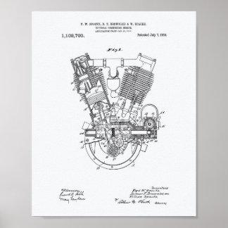 Poster Livre blanc de brevet interne du moteur à