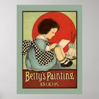 Poster Livre de peinture de Bettys