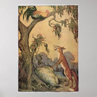 Poster Livre vintage de l'histoire des enfants, les