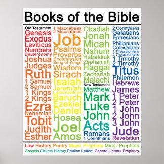 Poster Livres de l'affiche de la bible 16x20 - version