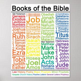 Poster Livres de l'affiche de la bible 8x10 - version