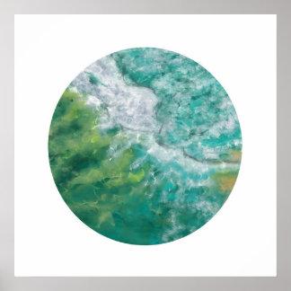 Poster L'océan de la Gold Coast (cercle de zen)