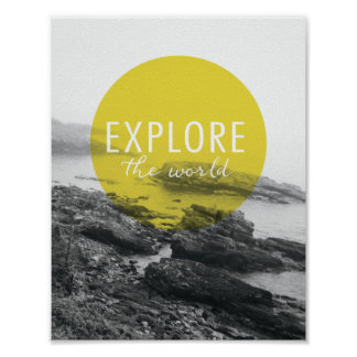 Poster L'océan | explorent la citation du monde