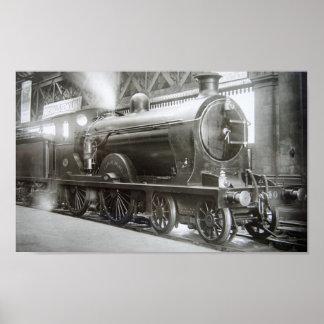 Poster Locomotive à vapeur (Madame d'Avenal)