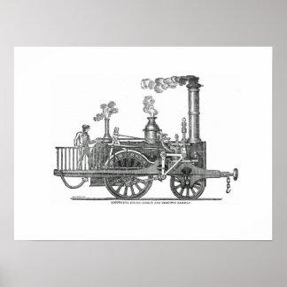 Poster Locomotive à vapeur tôt