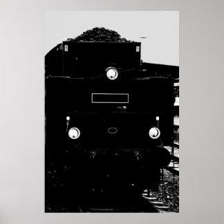 Poster Locomotive de vapeur