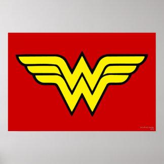 Poster Logo classique de la femme de merveille |