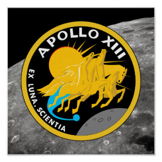 Poster Logo de correction de mission de la NASA d'Apollo
