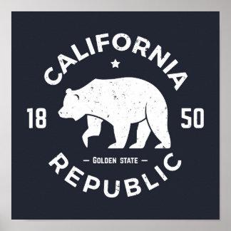 Poster Logo | de la Californie le Golden State