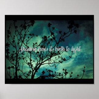 Poster L'ombre doit sa naissance à la lumière