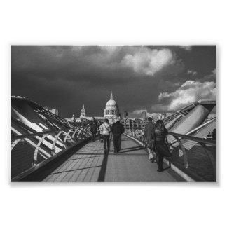 Poster Londres noire et blanche
