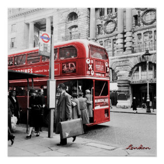 Poster Londres rouge double Decker