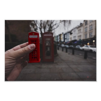 Poster Londres Telephone Box