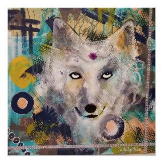 Poster Loup sage